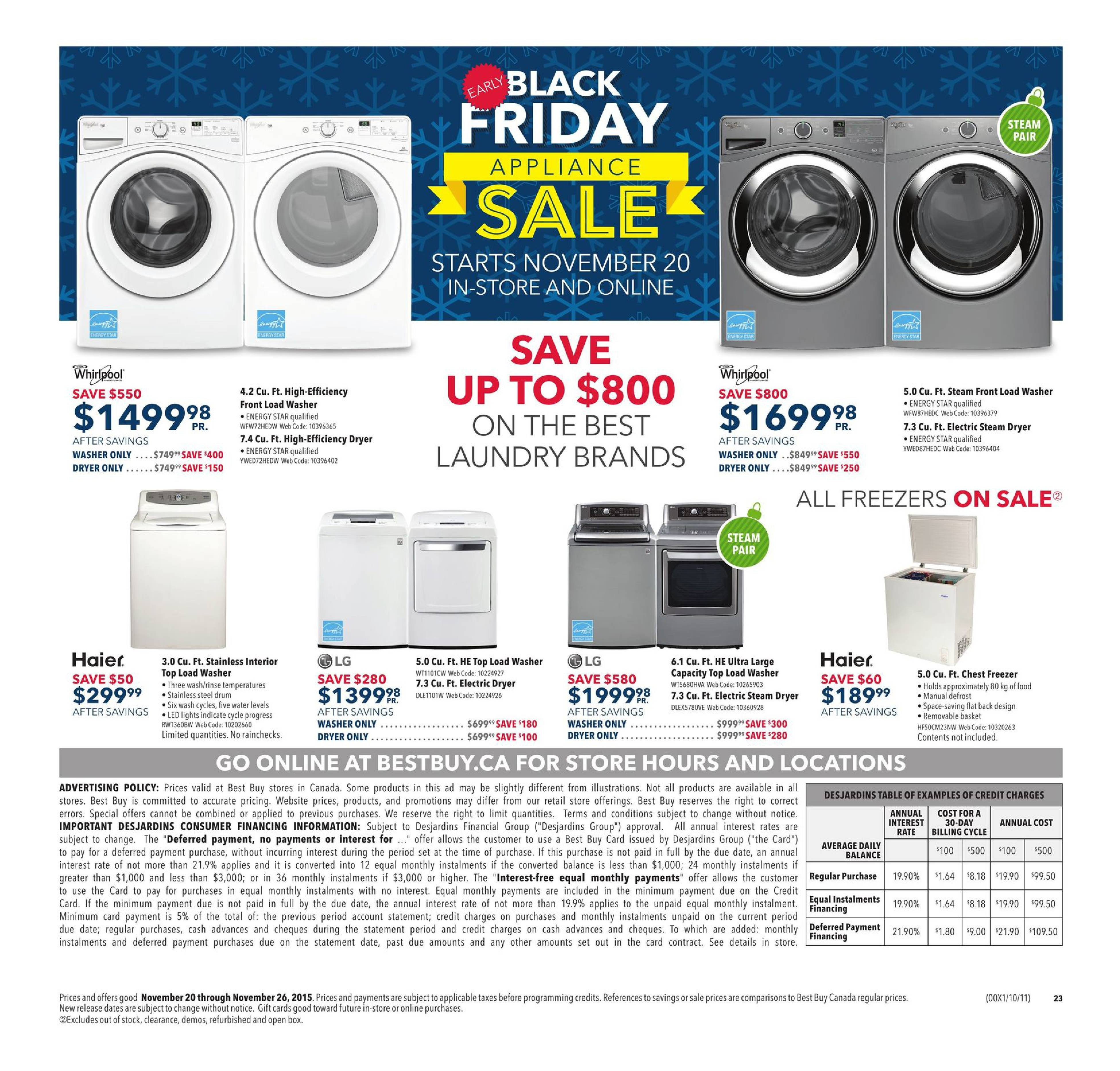 Best Buy Weekly Flyer - Weekly - Early Black Friday Appliance Sale