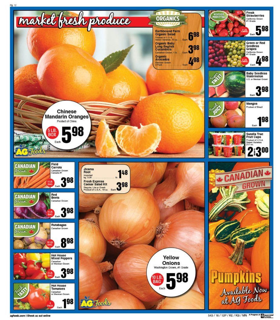 Ag Foods Weekly Flyer Case Lot Sale Oct 16 22 Minute Maid Homestyle Orange 1l