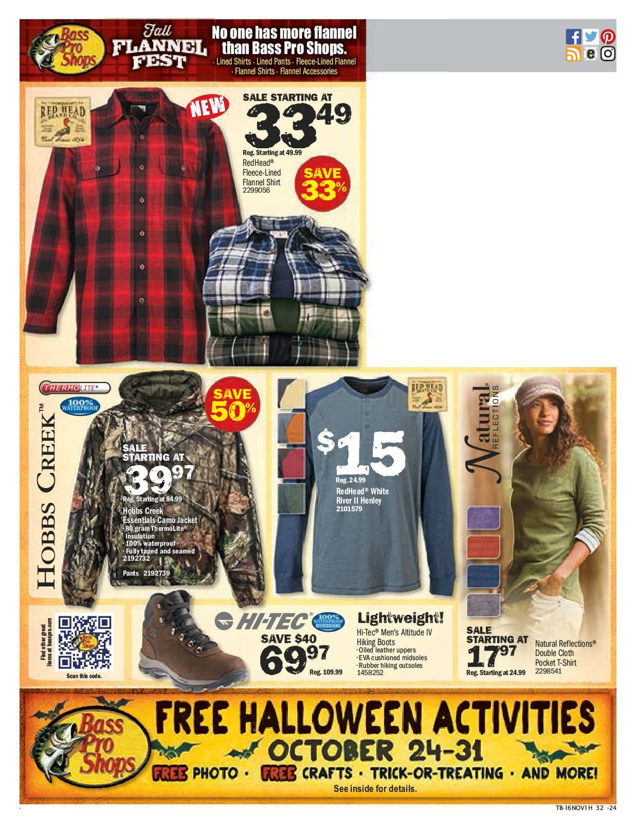 Bass Pro Shops Weekly Flyer - Fall Harvest Sale! - Oct 21