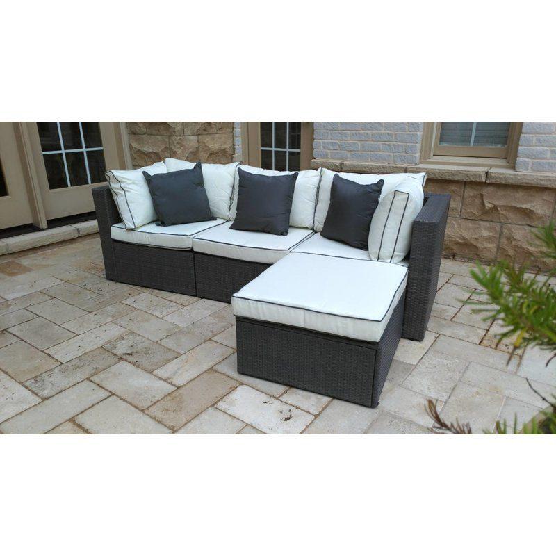 Wayfair Ca Patio Furniture Sectional, Burruss Patio Sectional With Cushions Canada