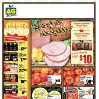 AG Foods - Weekly - Get Ready For Thanksgiving! Flyer