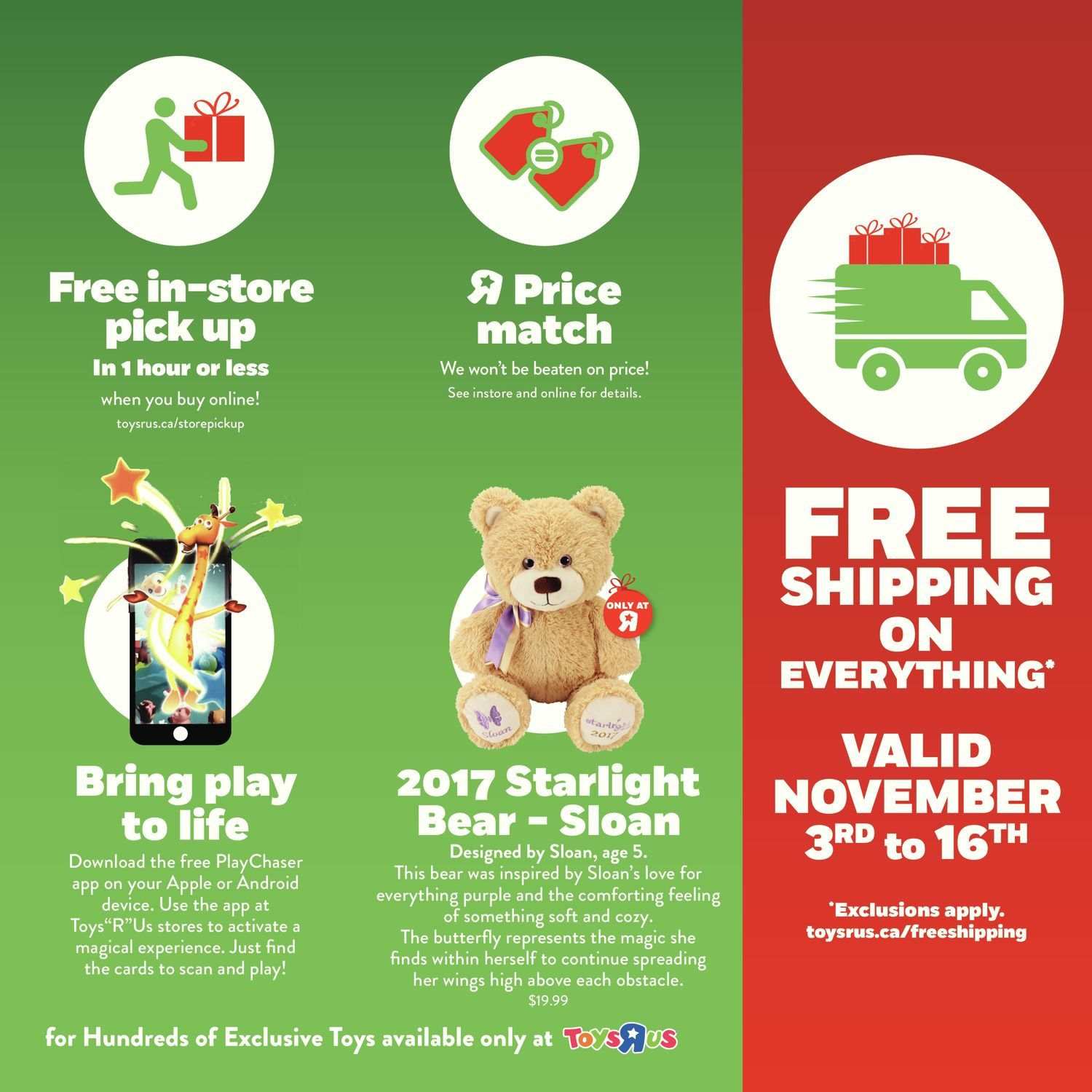 7c94290792 Toys R Us Weekly Flyer - 2017 Playbook - Nov 3 – 16 - RedFlagDeals.com
