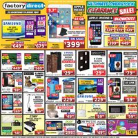 Factory Direct - Weekly - Ultimate Overstock Clearance Sale! Flyer