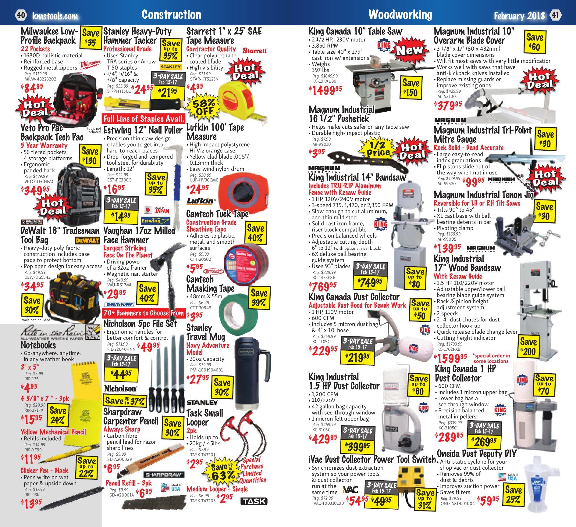 Kms Tools Weekly Flyer Welding Sale Feb 1 28 Channel 0 110v Constant Voltage Led Dimmer Switch Sr2002