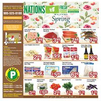 Nations Fresh Foods - Weekly Specials - Welcome Spring Flyer