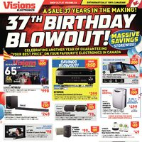 Visions Electronics - Weekly - 37th Birthday Blowout! Flyer