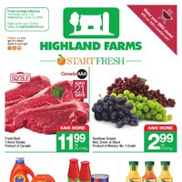 Highland Farms - Weekly Specials - Start Fresh Flyer