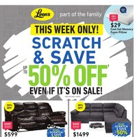 Leon's - Part of The Family - Scratch & Save Flyer