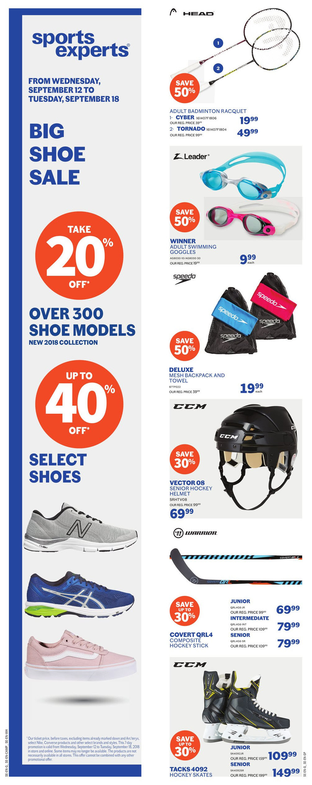 a76dd9d88f Sports Experts Weekly Flyer - 2 Weeks of Savings - Big Shoe Sale - Sep 12 –  25 - RedFlagDeals.com
