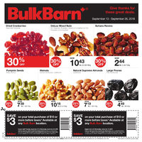 Bulk Barn: $3 00 Off Your $10 00+ Purchase from September 13