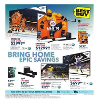 Best Buy - Weekly - Bring Home Epic Savings Flyer