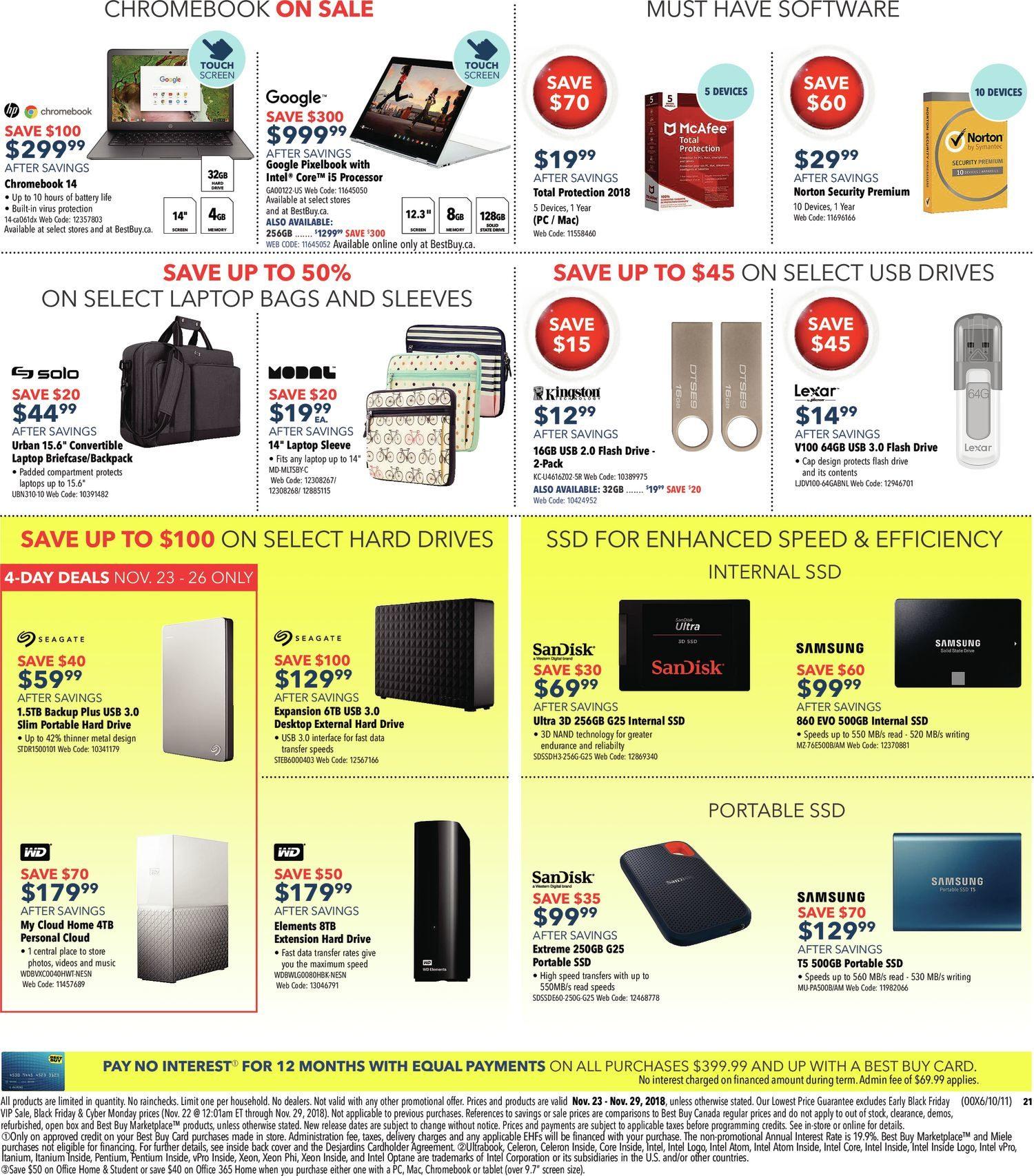 Best Buy Weekly Flyer Black Friday Sale Nov 23 29 Jr Foldable Travel Bag Wide 21