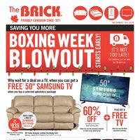 The Brick - Boxing Week Blowout Starts Early! Flyer