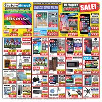 Factory Direct - Weekly - Ultimate Clearance Sale! Flyer