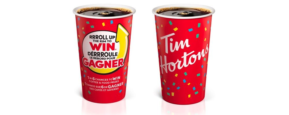 Roll Up The Rim To Win Returns At Tim Hortons For 2019