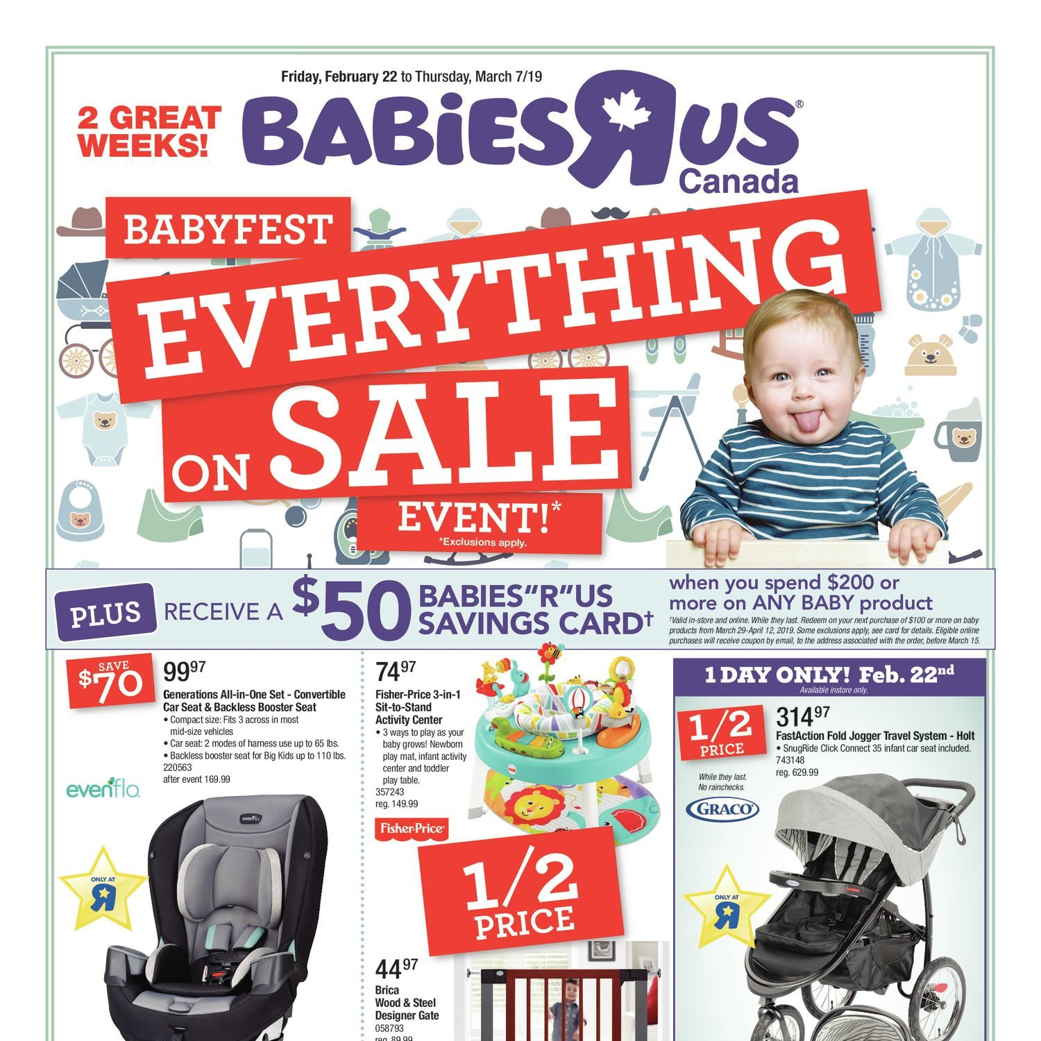 5ba6aed9c8a Babies R Us Weekly Flyer - 2 Great Weeks! - Babyfest Everything On Sale  Event! - Feb 22 – Mar 7 - RedFlagDeals.com