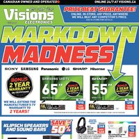 Visions Electronics - Weekly - Markdown Madness Flyer