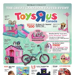 Toys R Us - The Great Canadian Easter Event Flyer
