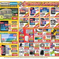 Factory Direct - Extreme Savings Event Flyer