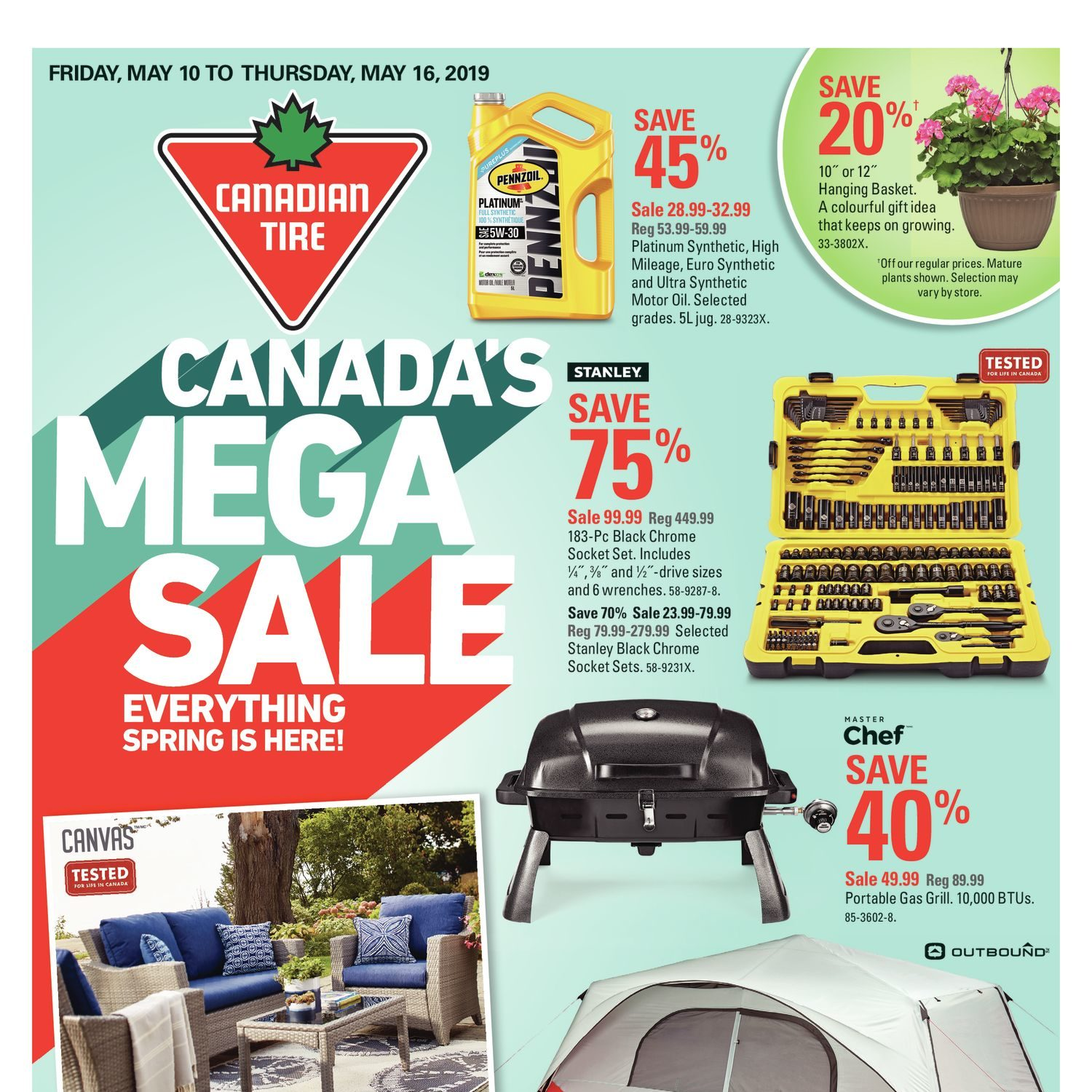 Canadian Tire Weekly Flyer - Weekly - Canada's Mega Sale - May 10