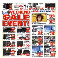 2001 Audio Video - Weekly - Long Weekend Sale Event! Flyer
