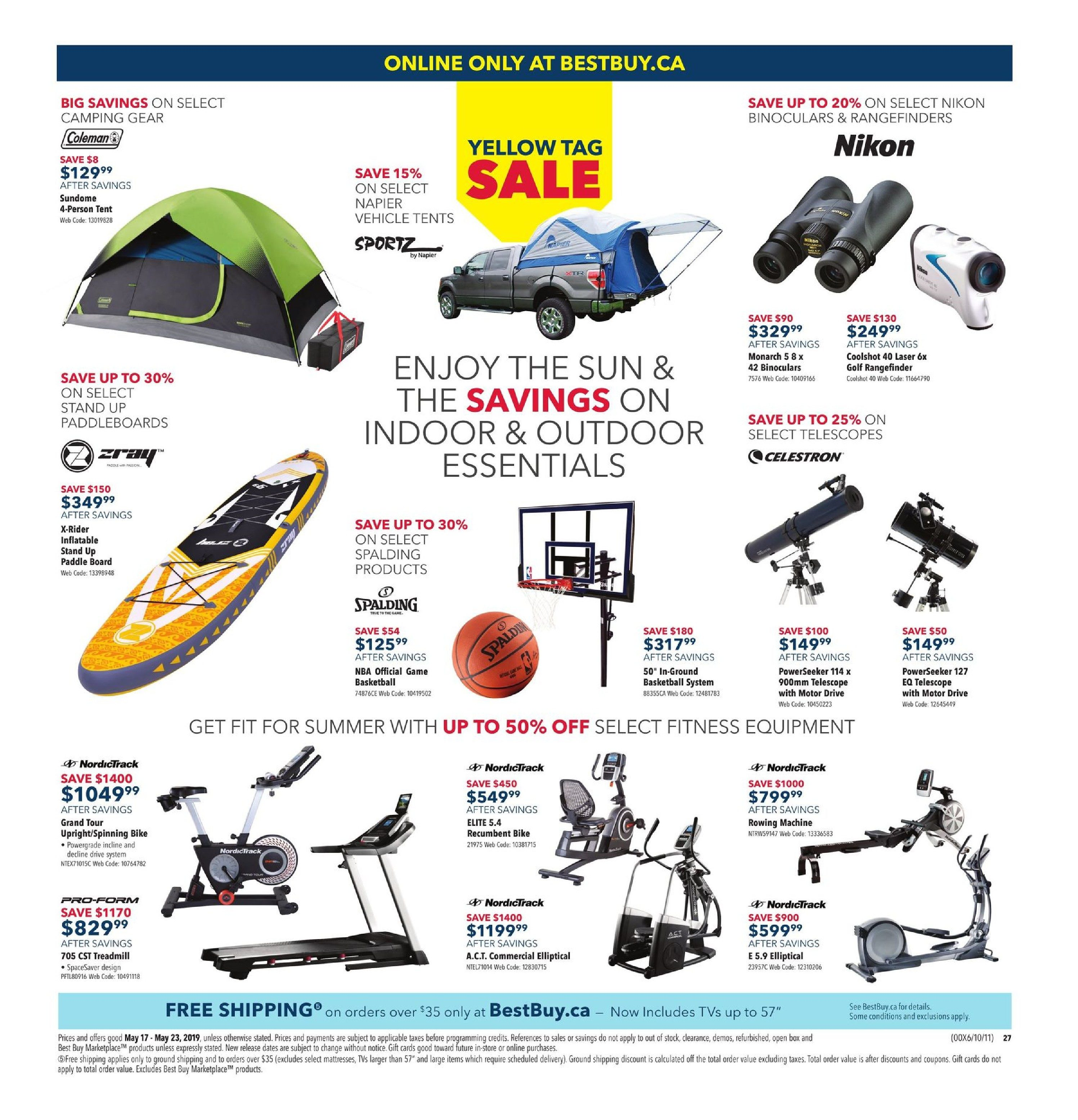 Best Buy Weekly Flyer - Weekly - Yellow Tag Sale - May 17