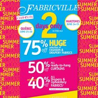 Fabricville - Summer Clearance Sale Flyer