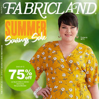 Fabricland - Summer Savings Sale Flyer