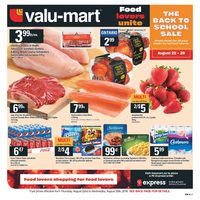 Valu-Mart - Weekly - The Back To School Sale Flyer