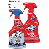 Resolve Carpet Cleaner or Pet Stain Remover or Bottle