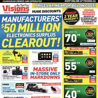 Visions Electronics - Weekly - Manufacturers' $50 Million Electronics Surplus Clearout! Flyer