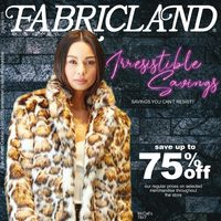 Fabricland - Irresistible Savings Flyer