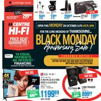 Centre HIFI - Weekly - Black Monday Anniversary Sale! Flyer