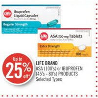Life Brand ASA Or Ibuprofen Products