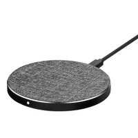 Gry Mattr Tech Accessories-Fabric Qi Wireless Charging Pad, Grey