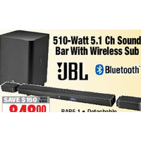 JBL 510-Watt 5.1 Ch Sound Bar With Wireless Sub
