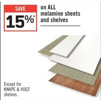 All Melamine Sheets And Shelves