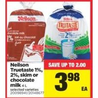 Neilson Truetaste 1%, 2% Skim Or Chocolate Milk