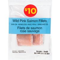 Wild Pink Salmon, Sole, Basa Fillets, Smoked Sockeye Salmon, Breaded Popcorn Shrimp Or Squid Rings