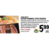 Farm Boy Sliced Peameal Style Bacon