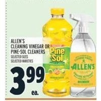 Allen's Cleaning Vinegar Or Pine-Sol Cleaners