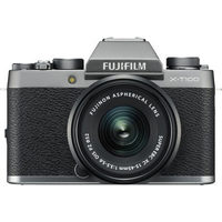 Fujifilm X-T100 Mirrorless Camera with XC-15-45mm OIS PZ Lens Kit - Dark Silver
