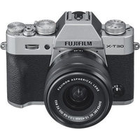Fujifilm X-T30 Mirrorless Camera with 15-45mm OIS PZ Lens Kit - Silver