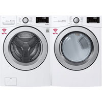 LG 5.2 Cu. Ft. High Efficiency Front Load Washer & 7.4 Cu. Ft. Electric Dryer
