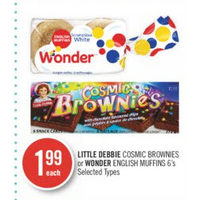 Little Debbie Cosmic Brownies Or Wonder English Muffins