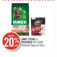 Iams, Cesar Or Pedigree Pet Food
