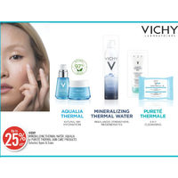 Vichy Mineralizing Thermal Water, Aqualia Or Purete Thermal Skin Care Products