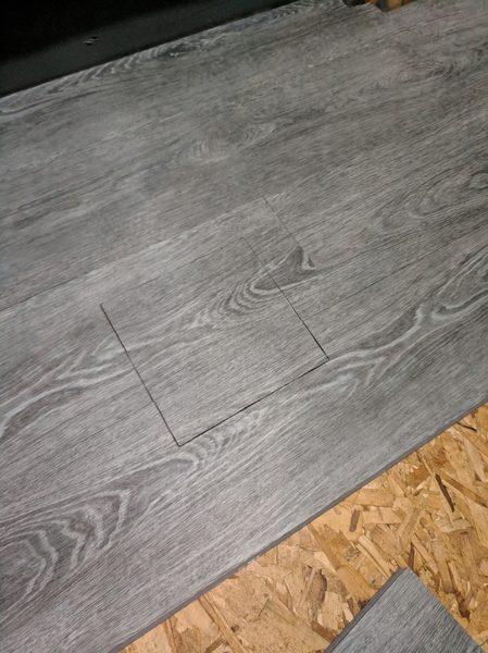 Access The Basement Floor Square Hole, Vinyl Plank Flooring Basement Drain