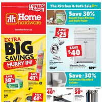 Home Hardware - 2 Weeks of Savings - The Kitchen & Bath Sale Flyer