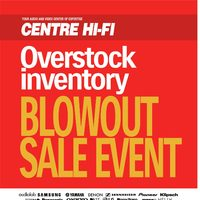 - Overstock Inventory Blowout Sale Event Flyer